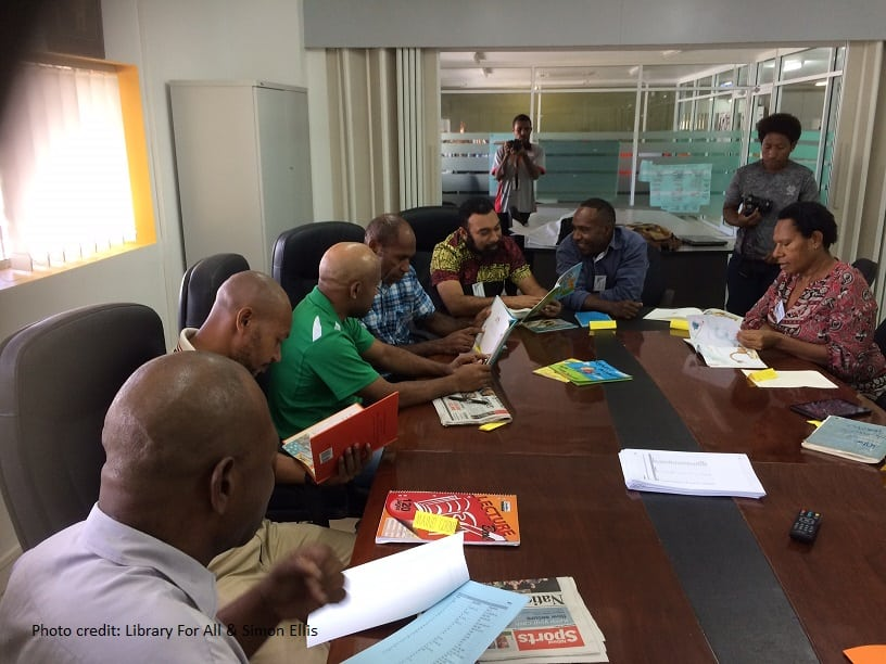 Participants in a writers workshop PNG