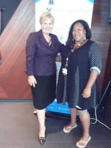 Gretel Matawan with US Ambassador to PNG